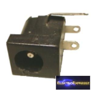ET-2089 DC táp aljzat, nyákba forrasztható. 2,5mm/5,5mm