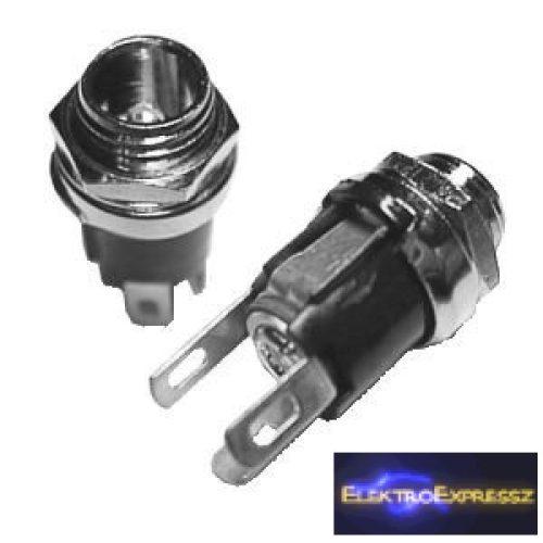 ET-2114TW Beépíthető, fém DC aljzat. 2,1mm/5,5mm  Taiwani termék.