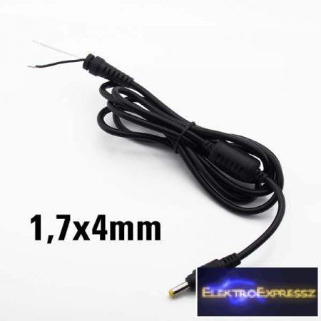 ET-2133 1,7/4,0mm DC táp dugóval szerelt kábel.
