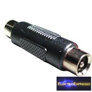 ET-2135 Fekete DC toldó csatlakozó 2,1/5,5mm