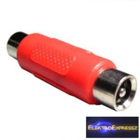 ET-2136 Piros DC toldó csatlakozó 2,1/5,5mm.
