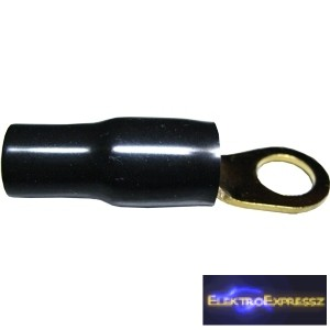 ET-2388B Aranyozott gyűrűs csatlakozó, fekete szigeteléssel
