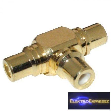 ET-2550G-KA RCA elosztó aranyozott 3 RCA aljzat