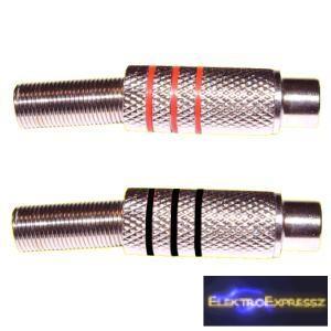 ET-2562 RCA fém alzat. 6-7mm-es kábelra