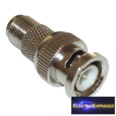 ET-3218 BNC dugó-F aljzat adapter, réz