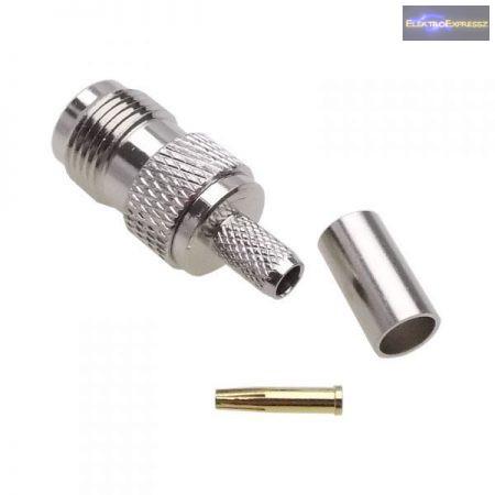 ET-3327 TNC R / P krimpelhető aljzat H155 kábelra. (Fordított csatlakozó)
