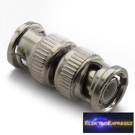 ET-3287 BNC dugó-BNC dugó, adapter csatlakozó, aranyozott belső érintkező