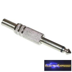 ET-4013A Jack dugó 6,3mm-es monó fém