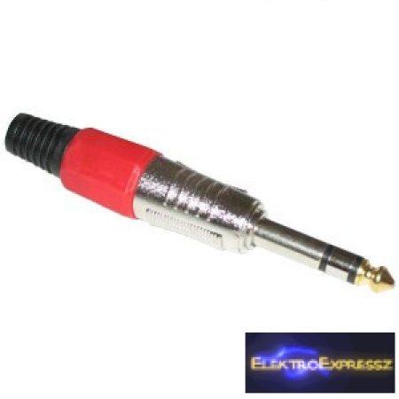 ET-4061B 6,3mm-es sztereó jack dugó