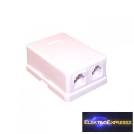ET-5015A Telefon fali aljzat, 6P4C Dupla