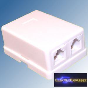 ET-5015B Telefon fali aljzat, 6P4C Dupla