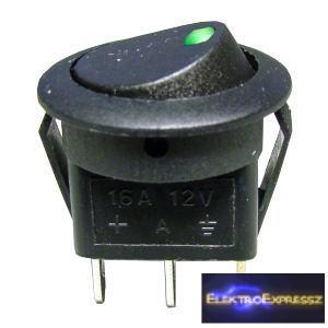 ET-5430 3 pólusú, 1 áramkörös kapcsoló, zöld led világítással.