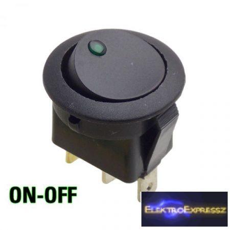 ET-5430G 1 áramkörös 2 állású világítós kapcsoló zöld leddel