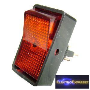 ET-5434 Világítós, piros kapcsoló