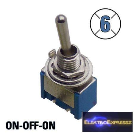 ET-5508BK 1 áramkörös  3 állású kapcsoló, 3 pólus