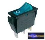 1ák.3p.2áll.Világító billenő kapcsoló.12V/20A.Kék világítással.