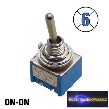 ET-5635R 2 áramkörös  2 állású kapcsoló, 6 pólusú