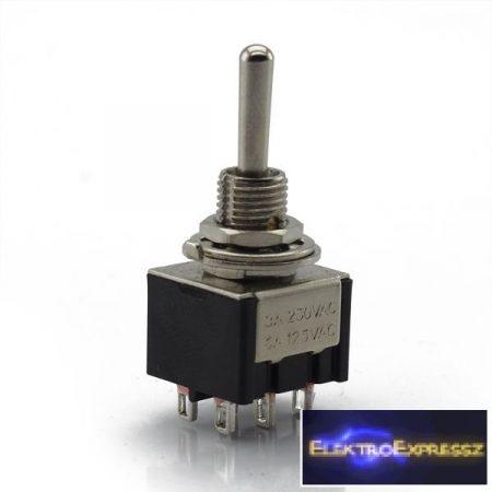 ET-5636 2 áramkörös 3 állású, visszaálló kapcsoló