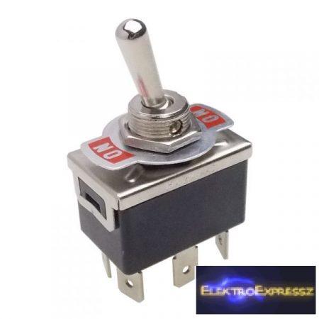ET-5641 2 áramkörös  6pólusú  2 állású, visszaálló kapcsoló