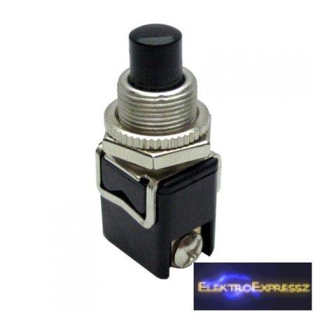 ET-5642 2 pólusú  1 áramkörös  nyomógomb, záró Fekete