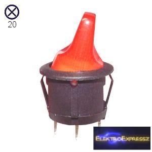 ET-5666 3 pólusú  világítós kapcsoló