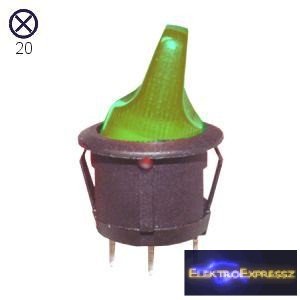 ET-5667 3 pólusú  világítós kapcsoló