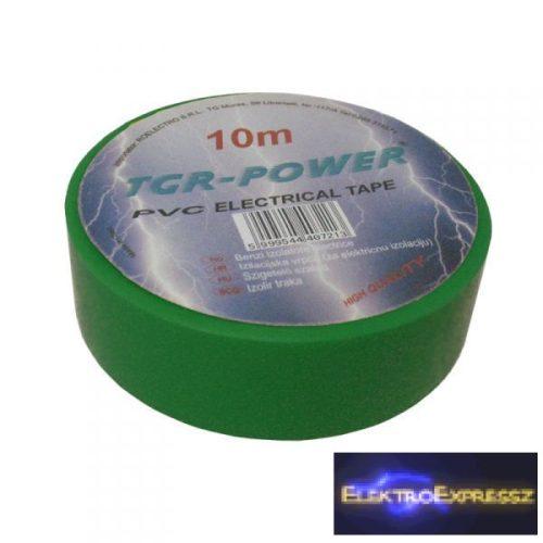 ET-5930 TGR-POWER szigetelő szalag 10m, zöld