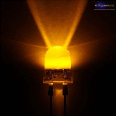 10mm sárga LED.