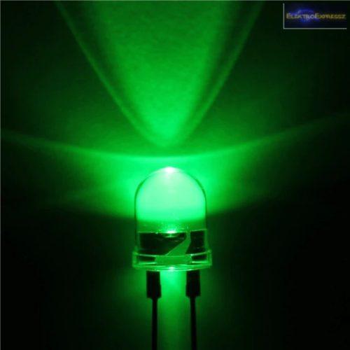 10mm zöld LED