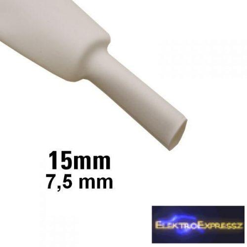 ET-6115FH 15mm-es zsugorcső, fehér