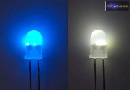 5mm villogó kék-fehér LED