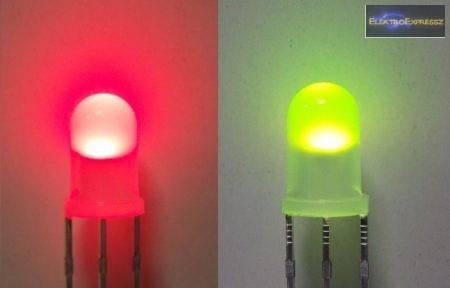 5mm piros-zöld LED