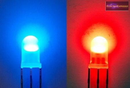 5mm piros-kék LED