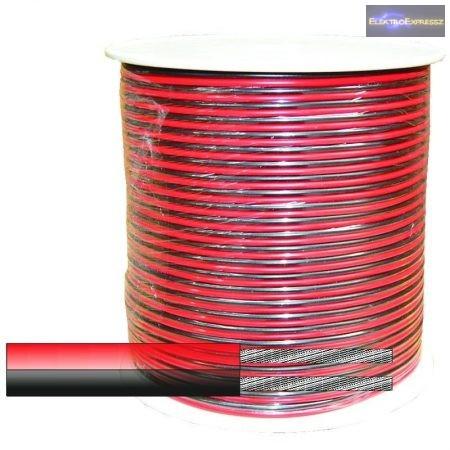 Hangszoró kábel 2x0,75mm2 Piros-fekete CCA