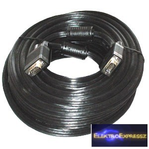 ET-7593-FPP-20 VGA kábel 20m árnyékolt fekete