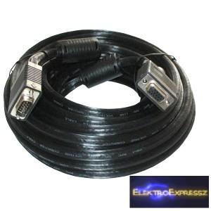 ET-7593-FPS-15 VGA hosszabbító kábel 15m árnyékolt fekete