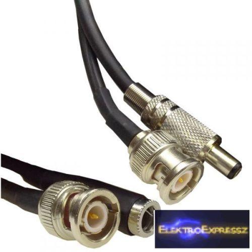 ET-7598-5 Videó(koax)+DC tápkábel 5m