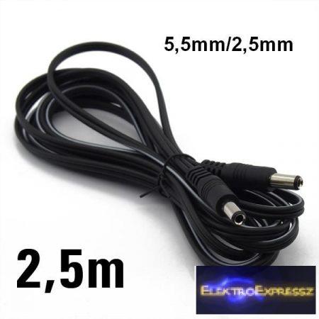 ET-7600D DC dugó - DC dugó kábel 5,5<-->2,5mm 2,5m