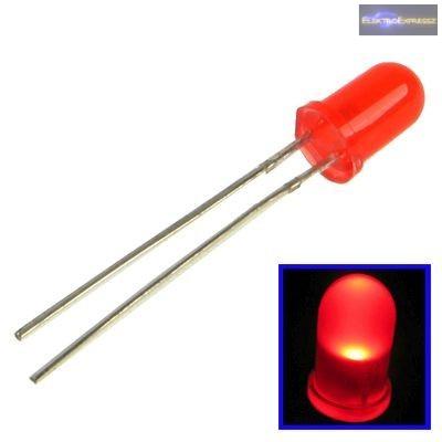 5mm piros LED.