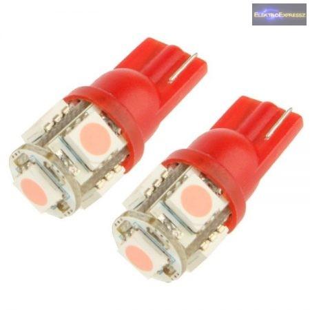 Lila autós LED izzó pár (T10)