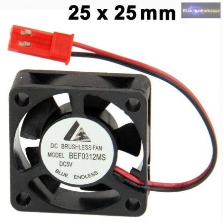 Ventilátor 25x25x10mm 5V