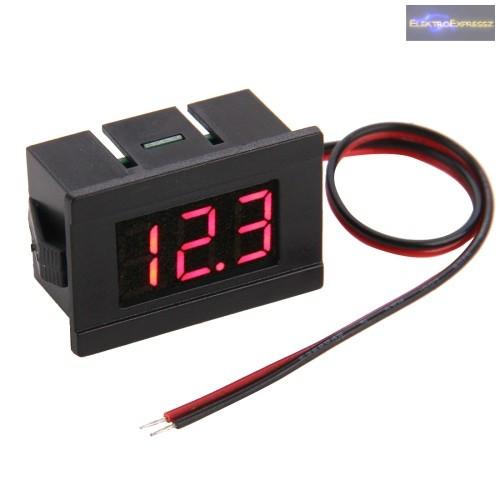 Mini Digitális feszültségmérő piros 4.5-120V (2 vezetékes)