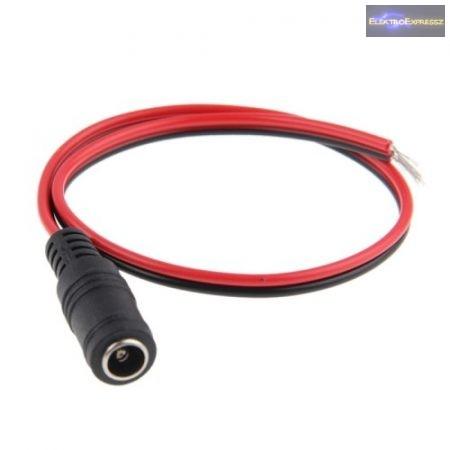5,5/2,1mm DC aljzattal szerelt kábel.
