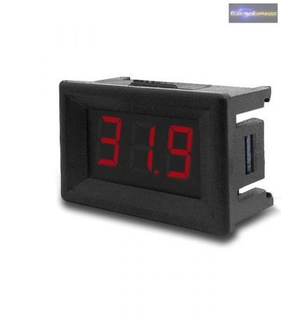 Mini digitális feszültségmérő piros 0-99.9V (3 vezetékes)