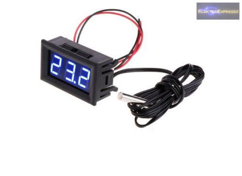 Digitális LED hőmérő kék