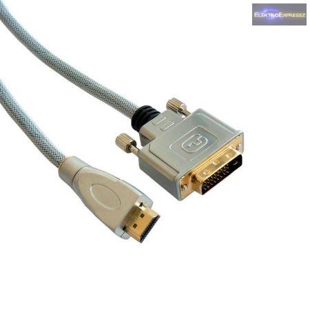 DVI-D dugó-HDMI dugó, szerelt kábel 1,5m