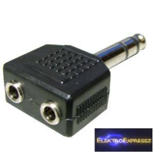 ET-4114 Két db 3,5mm-es sztereó jack aljzatból - 6,3mm-es sztereó jack dugó.