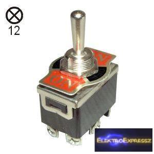 ET-5428 2 áramkörös 3 állású kapcsoló