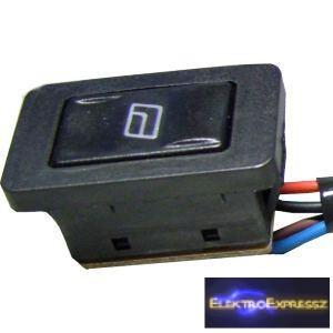 ET-5429 6 pólusú autó ablakemelő kapcsoló (vezetékkel)