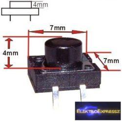 ET-5604 4 pólusú  1áramkörös  mikrokapcsoló